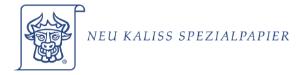 Neu Kaliss Spezialpapier